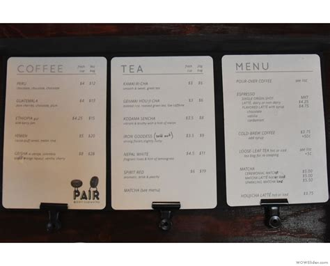 View the menu, check prices, find on the map, see photos and ratings. Pair Specialty Coffee & Tea | Brian's Coffee Spot