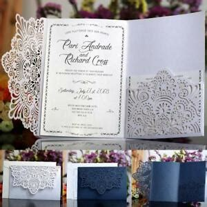 10pcs diy laser cut vintage lace floral wedding invitation