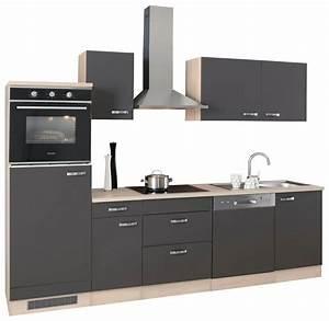 Küchenzeile 3 Meter : optifit k chenzeile ohne e ger te faro breite 270 cm ~ Watch28wear.com Haus und Dekorationen
