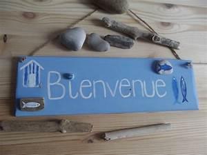 Pancarte En Bois : pancarte bienvenue en bois d corations murales par ptitecrea d coration bord de mer ~ Teatrodelosmanantiales.com Idées de Décoration