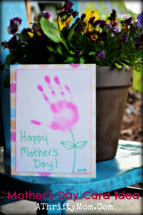 handmade mothers day card idea hand print flower card