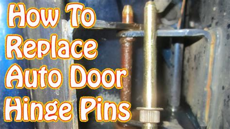 diy door hinge pin bushing replacement   fix