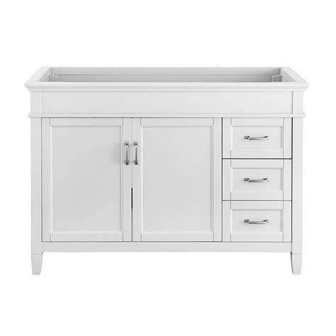 foremost ashburn 48 in w x 21 75 in d vanity cabinet in