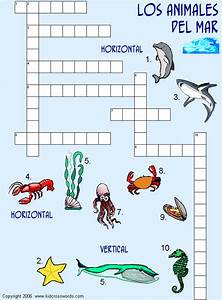 Conoce el mundo submarino: Crucigrama marino