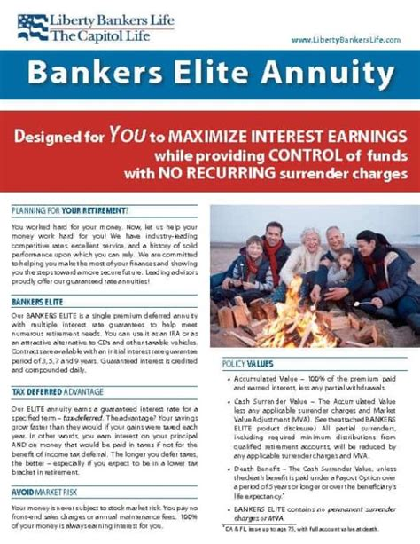 Our community is ready to answer. Liberty Bankers Elite 7 Annuity   3.00% Rate