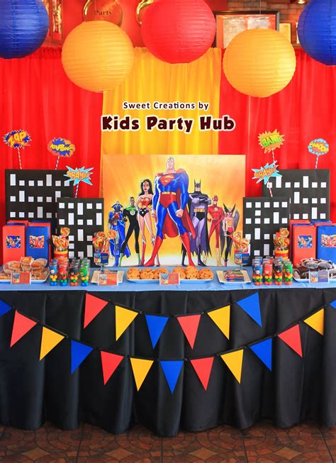 Kids Party Hub Justice League Themed Birthday Party