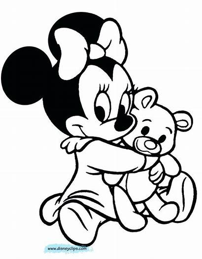 Minnie Mouse Coloring Pages Printable Mickey Colouring