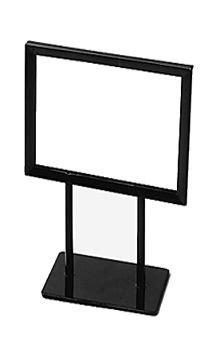 Black Counter Top Sign Holders | VM | Bathroom countertops