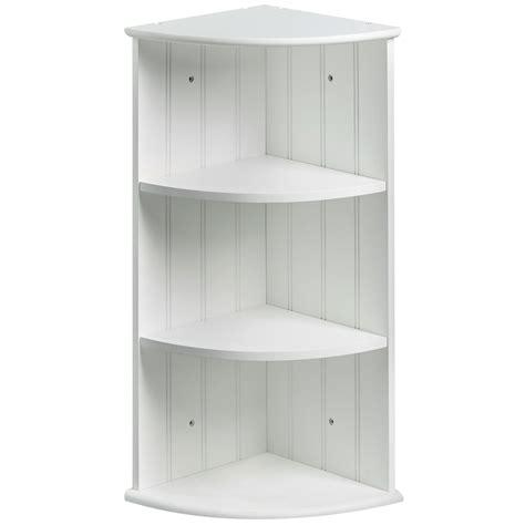 vonhaus colonial white  shelf bathroom corner cabinet