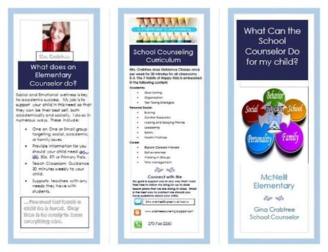 Counseling Brochure Templates Free by High School Counseling Brochure Renanlopes Me