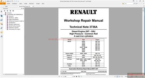 renault diesel engine g9t g9u comman rail system auto repair manual forum heavy equipment
