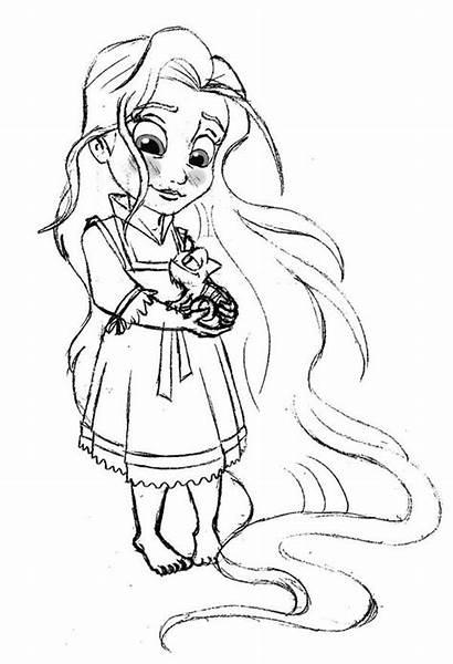 Coloring Rapunzel Pages Princess Disney Tangled Printable