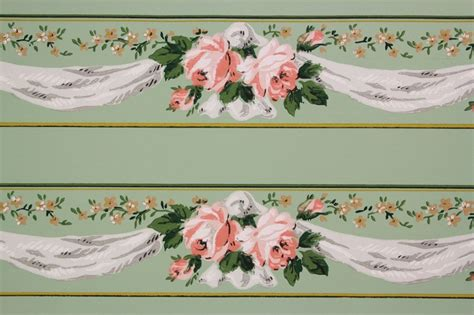 Wallpaper Border by Vintage Wallpaper Borders Wallmaya