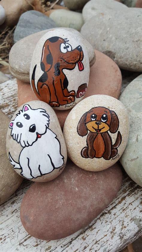 dogs puppies painted rocks artist anita schmidt
