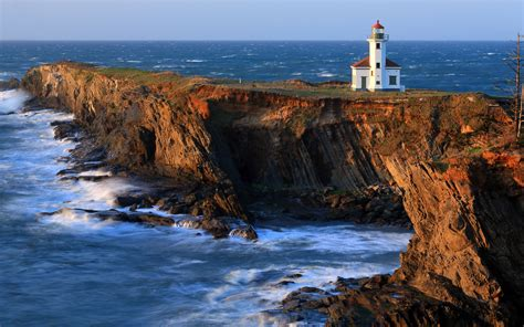 cape arago lighthouse  robert bynum desktop wallpaper