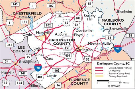 Maps of Darlington County, South Carolina