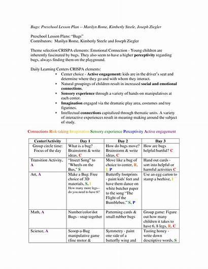 Lesson Preschool Science Plan Template Templates Allbusinesstemplates