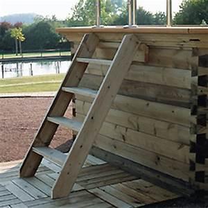 Escalier Pour Piscine Hors Sol : escalier en bois exotique pour acc s aux piscines hors sol ~ Dailycaller-alerts.com Idées de Décoration