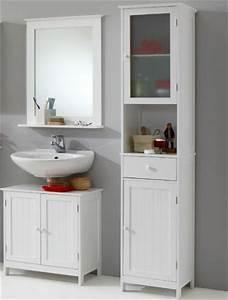Badmöbel Set Landhaus : neu 3tlg landhaus badezimmer set badm bel lack wei waschplatz badezimmerschrank ebay ~ Indierocktalk.com Haus und Dekorationen