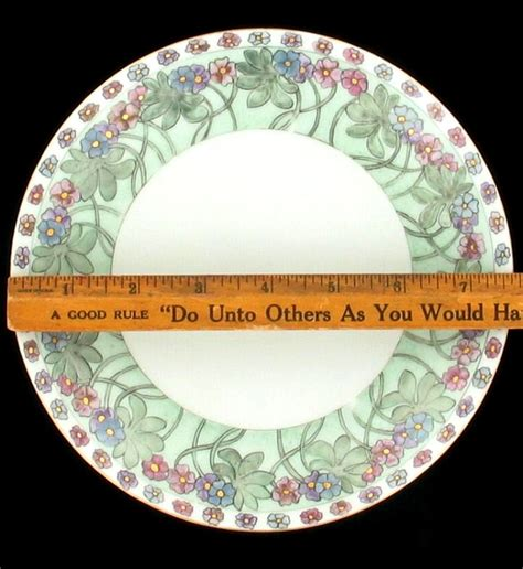 antique bavaria 1911 floral green decorative wall plate