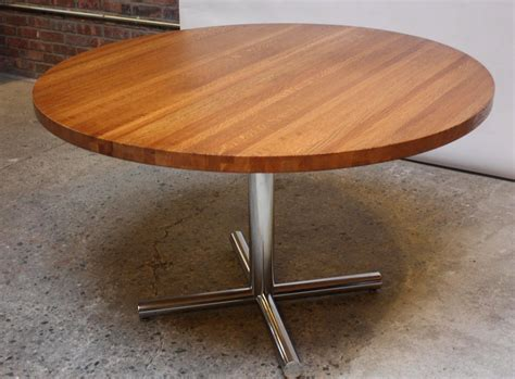 Butcher Block Dining Table With Chrome Base For Sale At