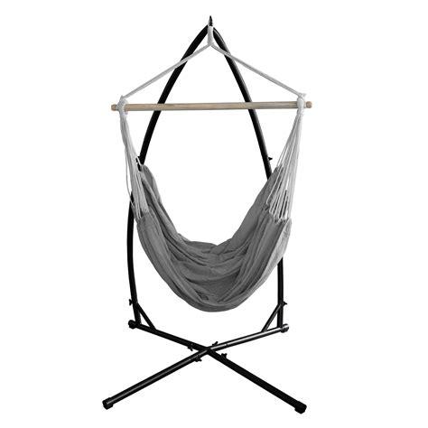 sedia amaca casa pro poltrona da appendere con telaio grigio