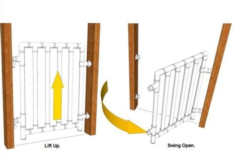 diy baby gate   furniture grade pvc pipes