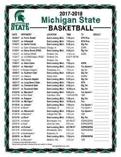 printable   michigan state spartans basketball