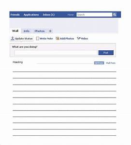 Facebook template 49 free word pdf psd ppt format for Facebook message template for word