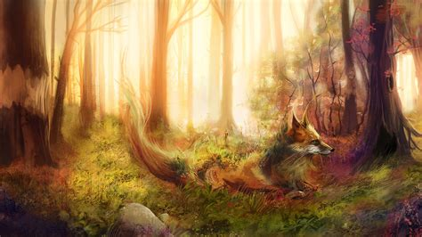 Anime Fox Wallpaper - fox wallpapers and background images stmed net