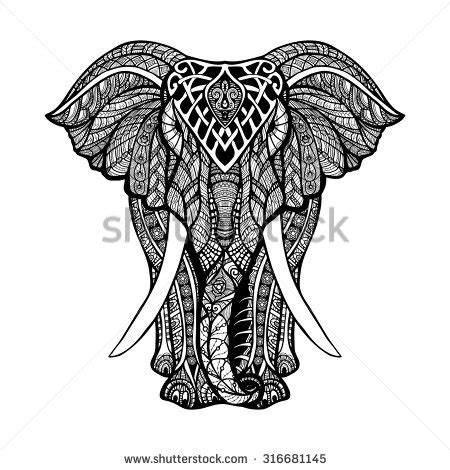 elephant silhouette front elephant stock photos images pictures