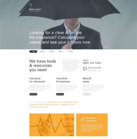 To launch your agency website, you first choose from our library of insurance website templates. 26+ Insurance Website Themes & Templates   Free & Premium Templates