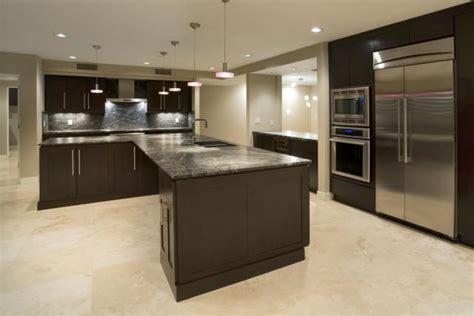 tile floor for kitchen travertine floor cabinets kitchen 6136