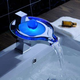 robinet salle de bain led sprinkle 174 color changing led waterfall bathroom sink taps unique design with pop up waste