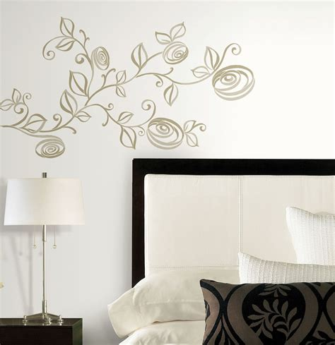 Stylized Roses Peel And Stick Wall Decals By Roommates New. Grand Hotel Pupp Room Rates. Wall Antlers Decor. Room Dividers Cheap. Silver Star Decorations. Living Room Set Under 500. Gold Decorative Pillows. Small Dining Room Tables For Small Spaces. Studio Monitors For Small Room
