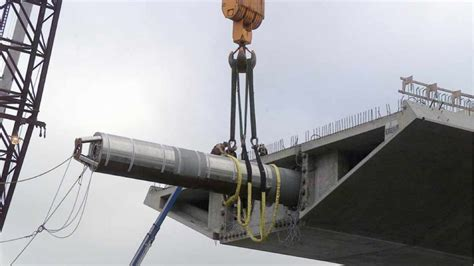 hinge pipe beam  installed   skyway bay bridge info