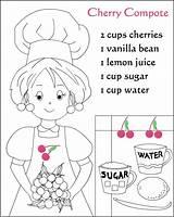 Coloring Recipes Pages Retete Colorat Nicole sketch template