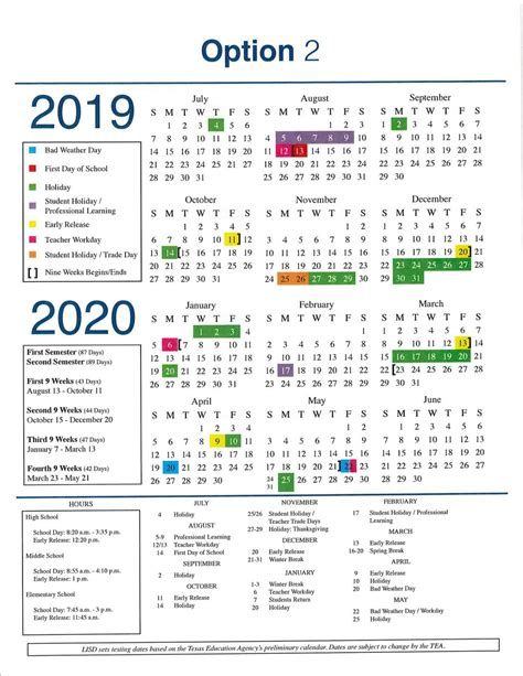 lisd adopts calendar news starlocalmediacom