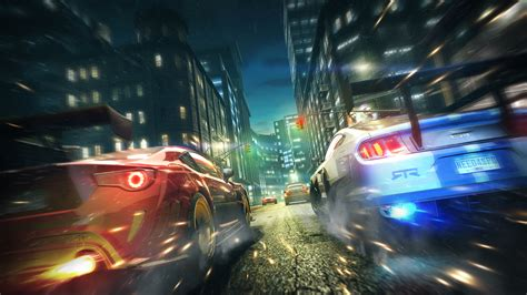 wallpaper video games city night vehicle