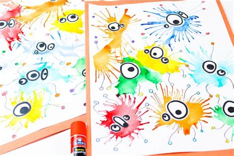 make this germ painting with straws 642   germ activities preschoolers supply image 2