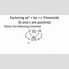 Factor Quadratic Expressions With Negative Coefficients ( Video )  Algebra  Ck12 Foundation