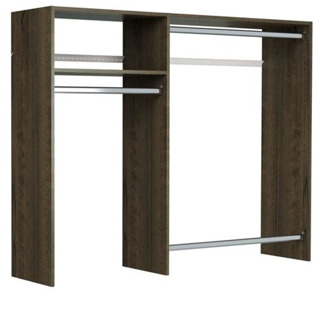 shop easy track     foot wide hanging closet