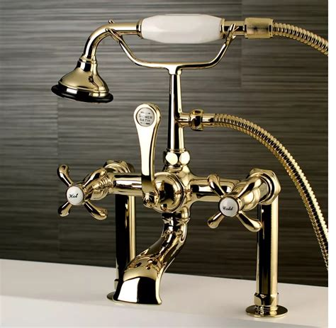 Aqua Brass Bathtub Faucets by Kingston Brass Ae103t2tx Aqua Country Deck