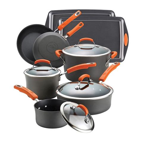 rachael ray cookware lids pc kohls nonstick anodized hard kohl