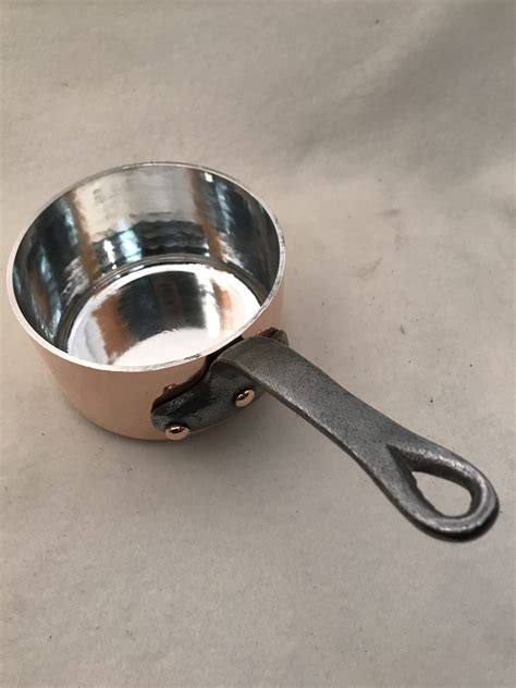 french hammered   copper sauce pan rocky mountain retinning