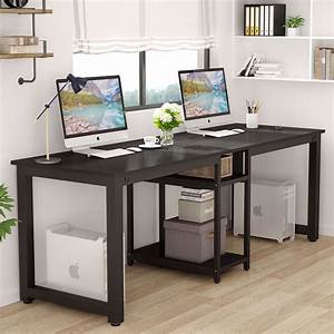 Tribesigns, 78, U2019, U2019, Computer, Desk, Extra, Large, Two, Person, Office, Desk, With, Shelf, Double, Workstation