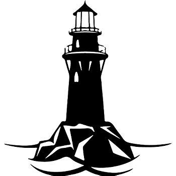 dnven 22 quot w 24 quot h sea theme black lighthouse tower silhouette wall decals