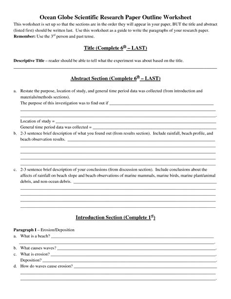 scientific paper template animal testing outline