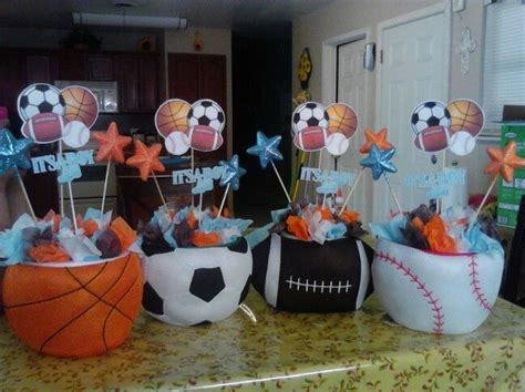 sports centerpieces for tables sports themed table centerpiece ideas blacktie photos