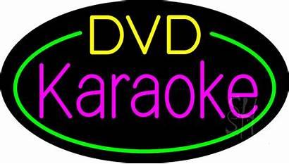 Karaoke Dvd Sign Neon Entertainment Signs Flashing